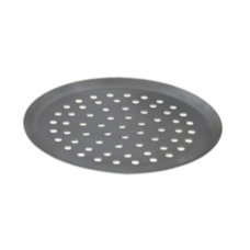 Blue Steel Round Pizza Tray, 24cm