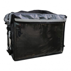 3 IN 1 PVC Insulated Delivery Bag, W/Parting Board,Black, Inter, L:48xW:36xH:36cm