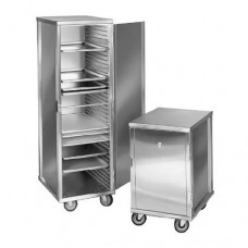 Enclosed Stainless Steel Transport Trolley, 38 x 58 x 170