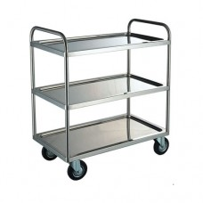 Stainless Steel 3-Tier Trolley, 100 x 45 x 79