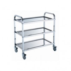 Stainless Steel 3-Tier Trolley, 75 x 40 x 84