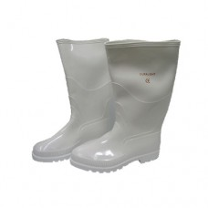 Rubber Water Boots without Front Metal Capping, White Boots, Size 39
