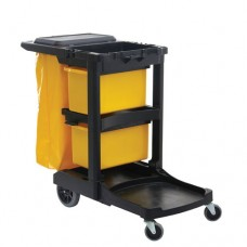 GrandmaidTM Janitoral Cleaning Cart, Drawer, 48.5 x 25.7 x 26cm