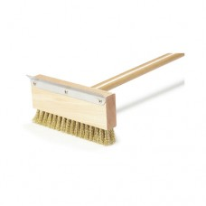 Oven Brush & Scraper w/Brass Bristles