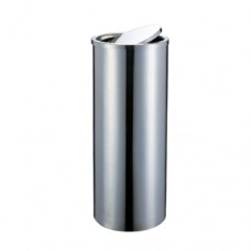 Round bin with Flat Swing Top (No Ashtray Comp), 30.5 x64.5cm