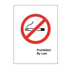 Signage / Tag: Non-Smoking, White Based, 12.5 x 17.0cm