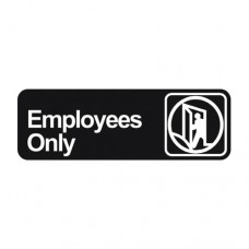 Signage / Tag: Employees Only, 22.86 x 7.62cm