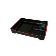3-Comp Bento Tray with Black Insert