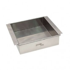 Stainless Steel Square Tofu Tray, 15 x 15 x 4.5cm
