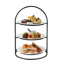 Ring 3 Tiers High Tea Stand (BLK), ATHENA, ø306×453(H)mm