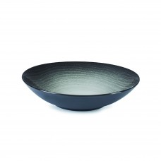 SWELL Coupe Plate,  Black Sand, Ø 24.2cm-H 5.7cm