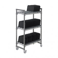 """Vertical Drying and Storage Mobile Rack, 24"""" x 48"""" x 78"""""""
