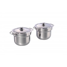 2 x 4.5L S.S Soup Bucket & Rect. Adaptor
